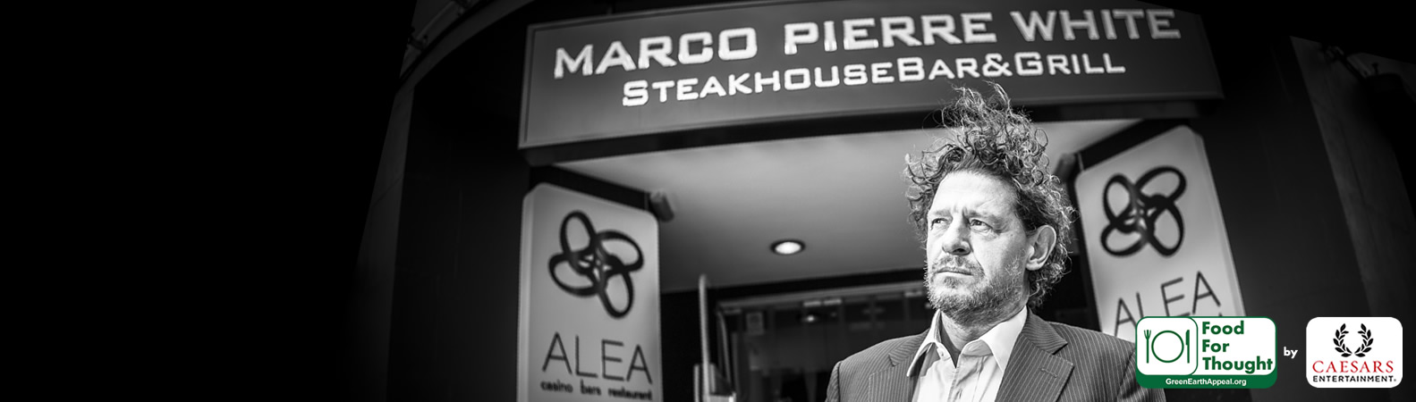 Marco Pierre White, three Michelin Star chef and Food For Thought Partner.